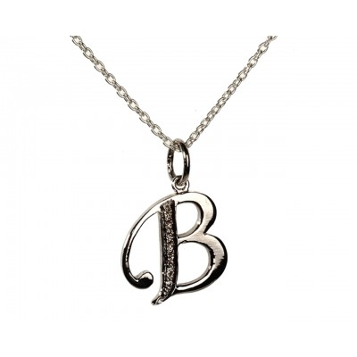 Alphabet B pendant with Diamonds